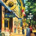 Street scene painting of Gastown, Vancouver.